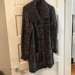 Alfani Large cardigan sweater coat , black